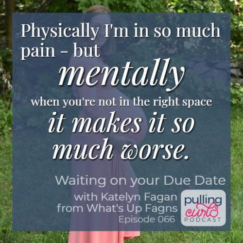 Physically I'm in so much pain -- but mentall when you're not in the right space it makes it so much worse.