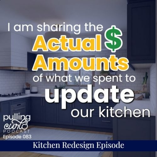 I am sharing the actual dollar amounts of what we spent to update our kitchen.