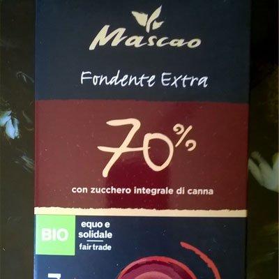 Mascao cioccolato fondente 70% - Altromercato - pulmino contadino