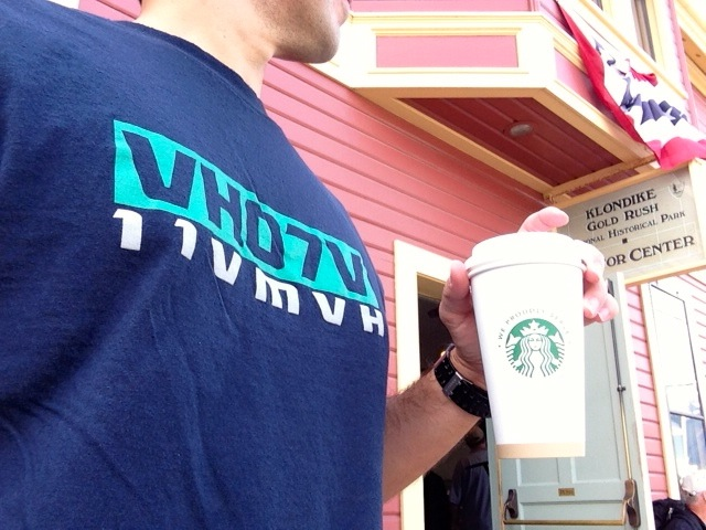 VH07V and Starbucks in Skagway, Alaska