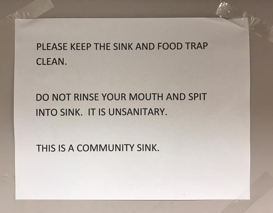 community-sink-sign