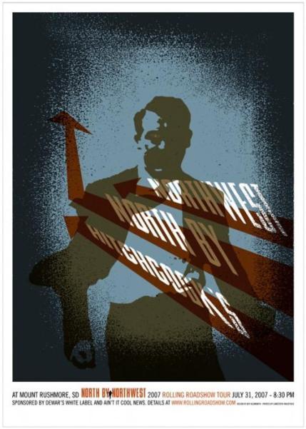 """""""NORTH BY NORTHWEST"""" Poster Artist: Jeff Kleinsmith"""