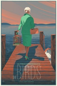 """THE BIRDS"" Poster Artist: Laurent Durieux"