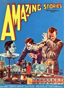 PULP MAGAZINE COVER, AMAZING STORIES AUGUST 1926