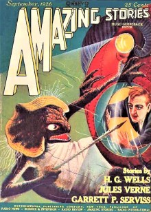 PULP MAGAZINE COVER, AMAZING STORIES SEPTEMBER 1926