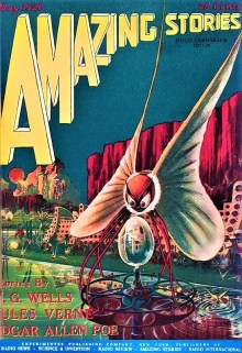 PULP MAGAZINE COVER - AMAZING STORIES, MAY 1926