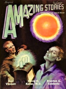 PULP MAGAZINE COVER - AMAZING STORIES, AUGUST 1929