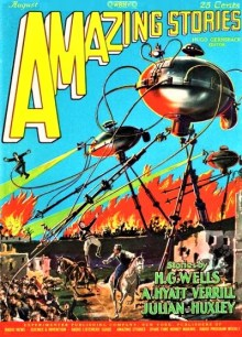 PULP MAGAZINE COVER - AMAZING STORIES, AUGUST 1927