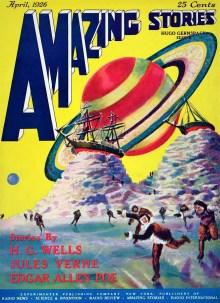 PULP MAGAZINE COVER AMAZING STORIES, APRIL 1926
