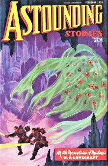 PULP MAGAZINE COVER - ASTOUNDING STORIES, FEBRUARY 1936