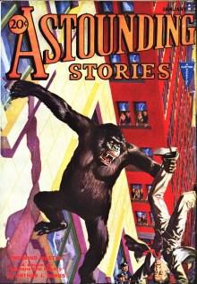PULP MAGAZINE COVER - ASTOUNDING STORIES, JANUARY 1932