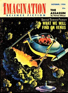 PULP MAGAZINE COVER - IMAGINATION SCIENCE FICTION, OCTOBER 1958