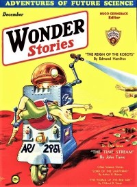 PULP MAGAZINE COVER - WONDER STORIES, DECEMBER 1931