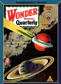 PULP MAGAZINE COVER - WONDER STORIES QUARTERLY, SPRING 1931