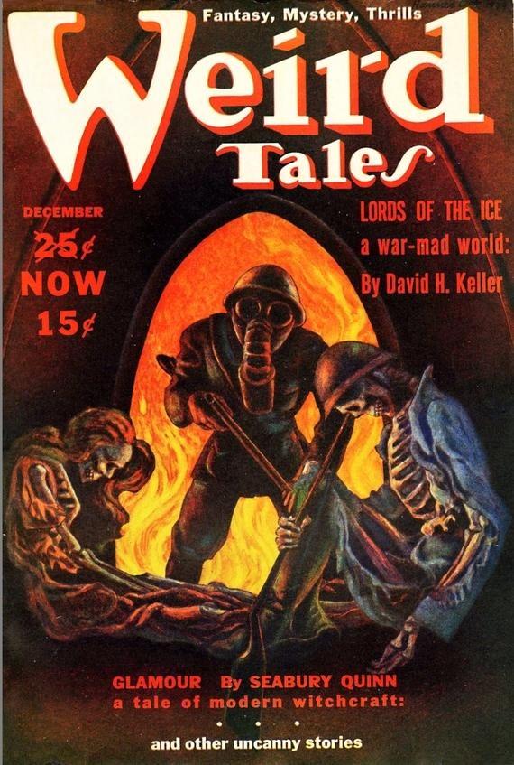 PULP MAGAZINE COVER - WEIRD TALES, DECEMBER 1939