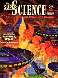 science fiction cover SUPER SCIENCE STORIES - June, 1951