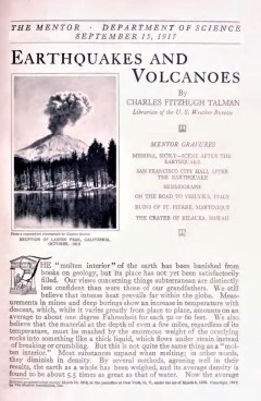 EARTHQUAKES AND VOLCANOES - September 15, 1917