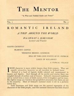 THE MENTOR - ROMANTIC IRELAND - 1913