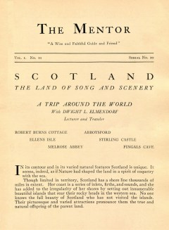 THE MENTOR - SCOTLAND THE LAND OF SONG AND SCENERY - 1913