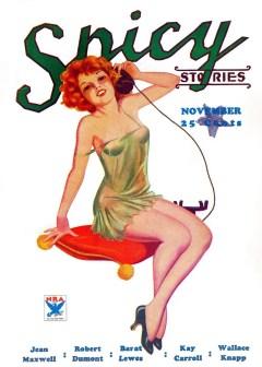 SPICY STORIES - November 1933