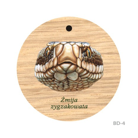 Breloki drewniane okrągłe z nadrukiem
