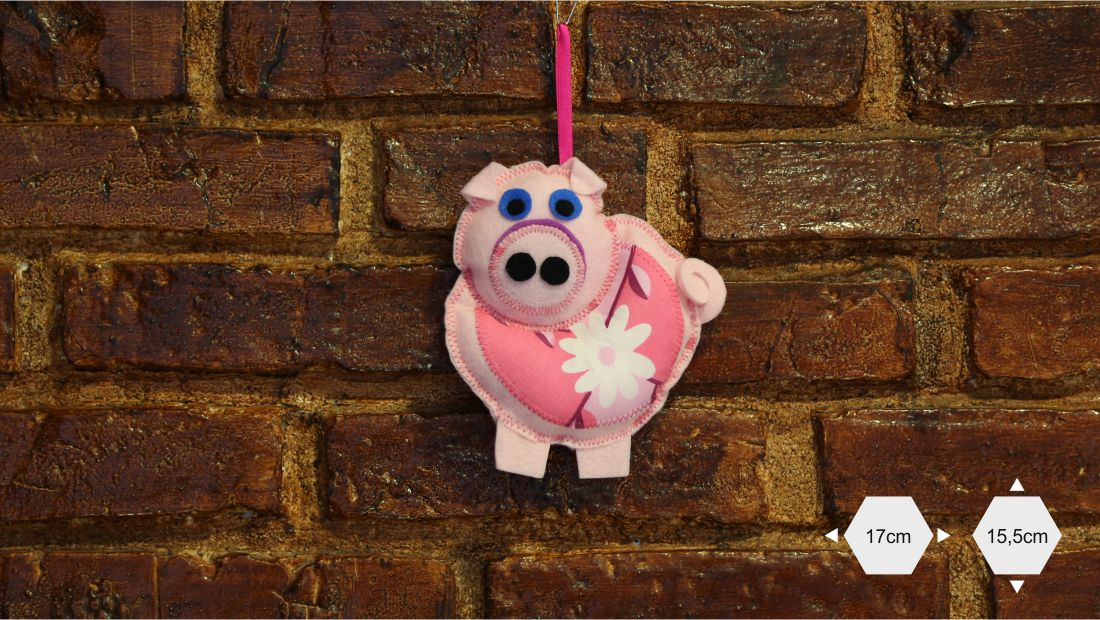 Maskotki z filcu - Świnia