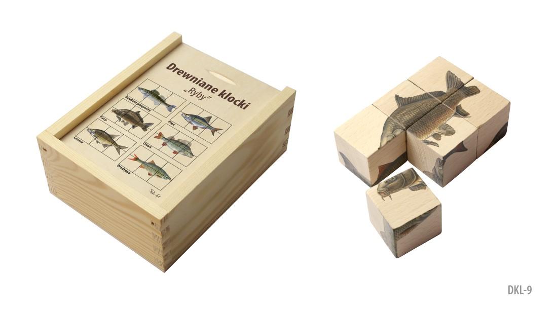 DKL-9 (Drewniane klocki - ukladanka przyrodnicza)