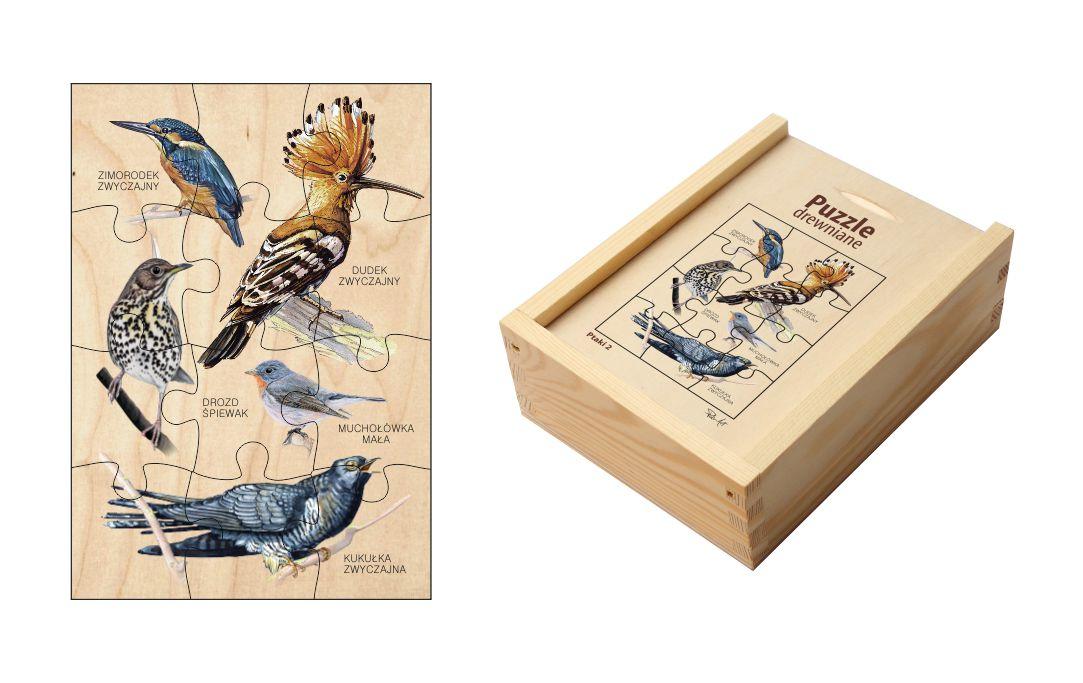 Puzzle drewniane - Ptaki 2