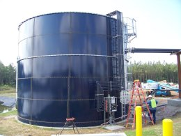 large bubble compressed air mixing