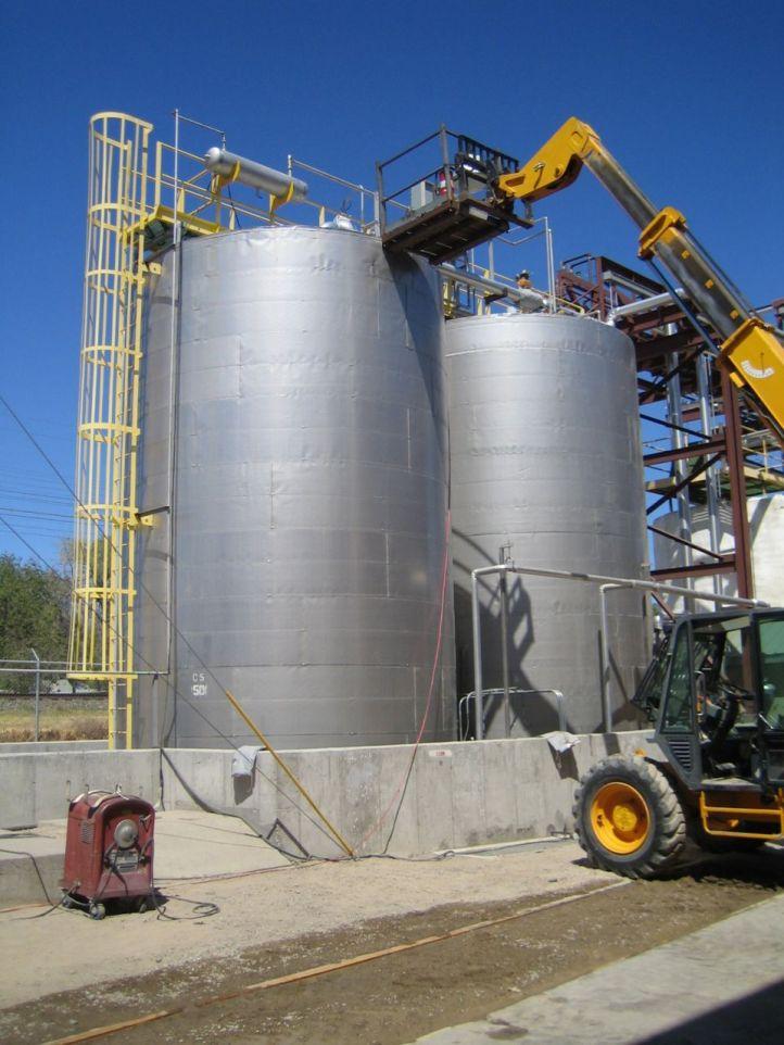 food oil blending tanks