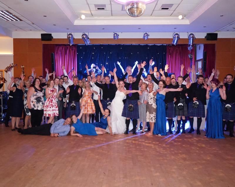 pulse wedding band ayrshire group shot seamill 21-06-15