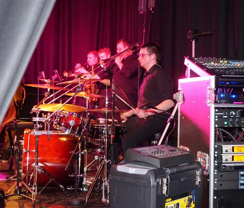 Pulse wedding bands Glasgow & Ayrshire brass section & drummer at Rutherglen Town Hall Glasgow near Glasgow