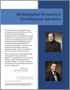 BioEnergetics Research & Develpment Advances Cover