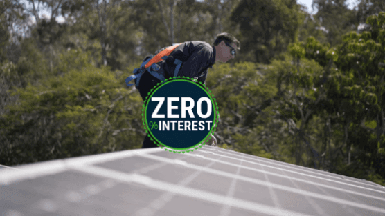 Zero interest solar panels