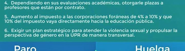 El movimiento estudiantil llevará ultimátum de paro y huelga indefinida a la Asamblea UPRRP