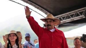 El presidente venezolano, Nicolás Maduro, durante un acto de Gobierno en Maracay. EFE (Pie de foto e imagen desde portal www.clarin.com)