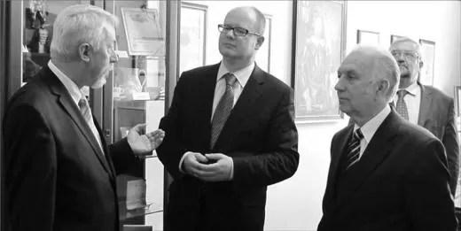 Prezydent Gdańska, Paweł Adamowicz zwiedzał wejherowski ratusz w towarzystwie prezydenta Krzysztofa Hildebrandta i jego zastępców.