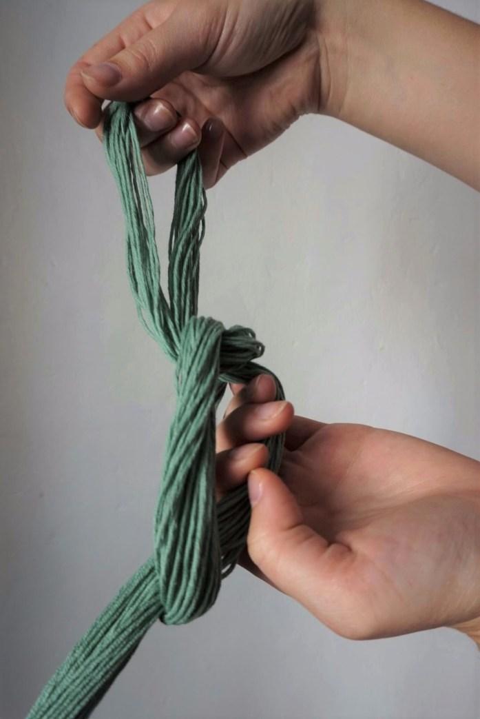 montage de la chainette pour u métier à tisser partie 4