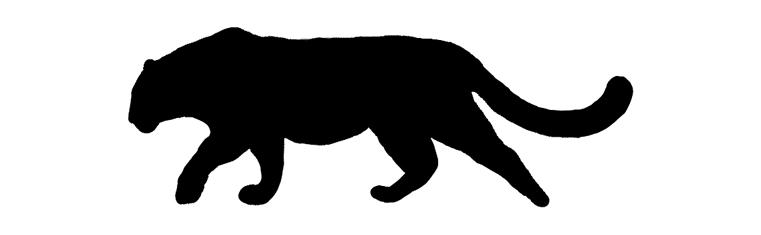 Amur Leopard Silhouette