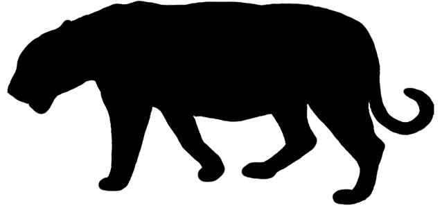 South China Tiger Silhouette
