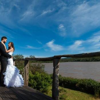 Pumba Private Game Reserve Weddings Bridal Couple On The Deck