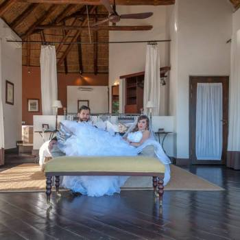 Pumba Private Game Reserve Weddings Bridal Couple Relaxing On The Couch