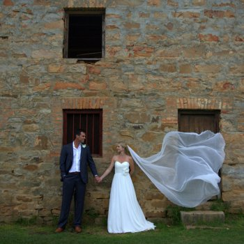 Pumba Private Game Reserve Weddings Bridal Veil Blowing In The Breeze