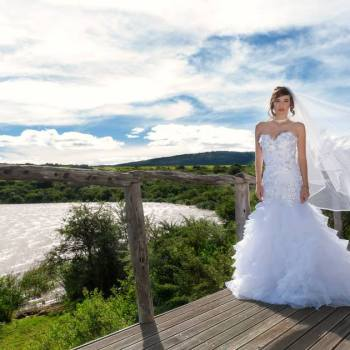 Pumba Private Game Reserve Weddings Bride On The Deck