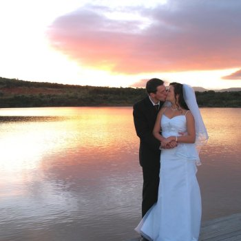 Pumba Private Game Reserve Weddings Couple at Water Lodge