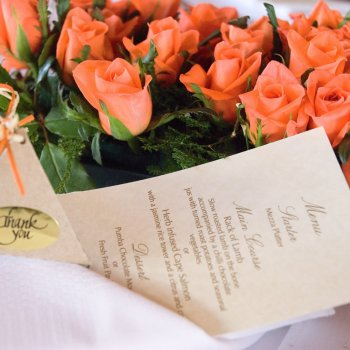 Pumba Private Game Reserve Weddings Menu And Flower Details