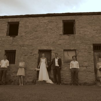 Pumba Private Game Reserve Weddings Wedding Party Outside Of Historical Monument