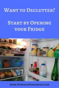 Want to declutter downsize start with your refrigerator and PumpjackPiddlewick