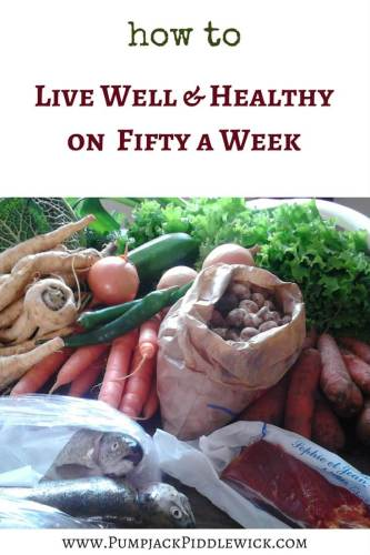How to live well and healthy on 50 a week with PumpjackPiddlewick