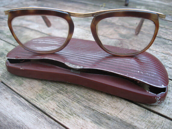 1950s eyeglasses with case_Sold at PumpjackPiddlewick